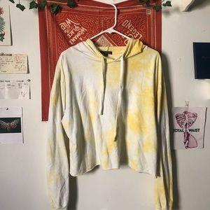 Yellow Tie-dye Hooded Sweatshirt 💛💛✨